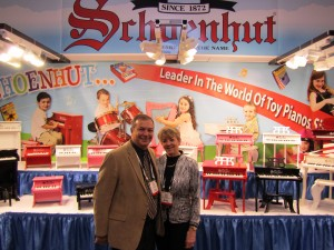 Renee and Len Trinca, co-owners of Schoenhut Piano Company.