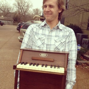 Zach with his prized vintage Jaymar. Photo by Meleah Smith.